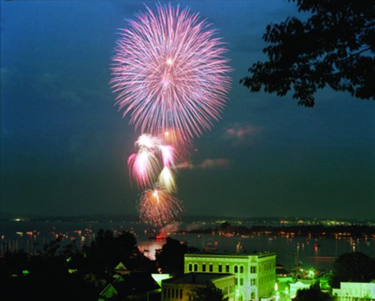 Harbor Springs Fireworks Post Card