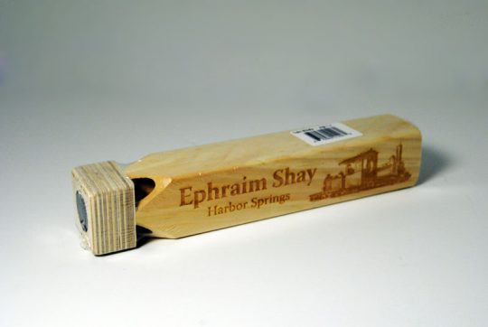 Ephraim Shay Wooden Train Whistle